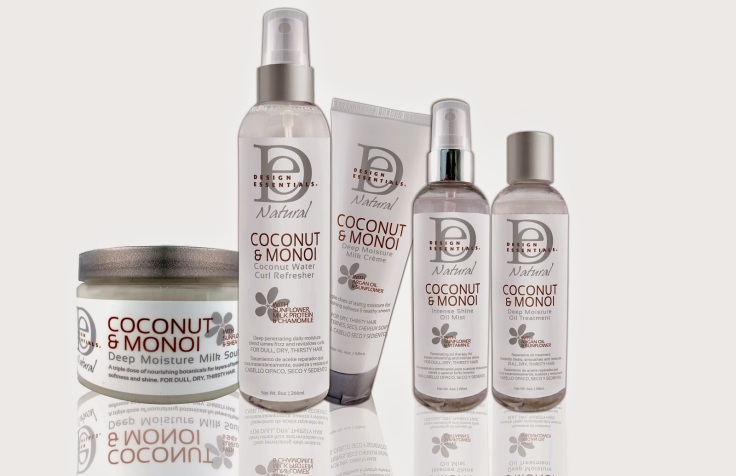 Design Essentials Coconut and Monoi hair products at designessentials.com such an amazing range especially for curly hair